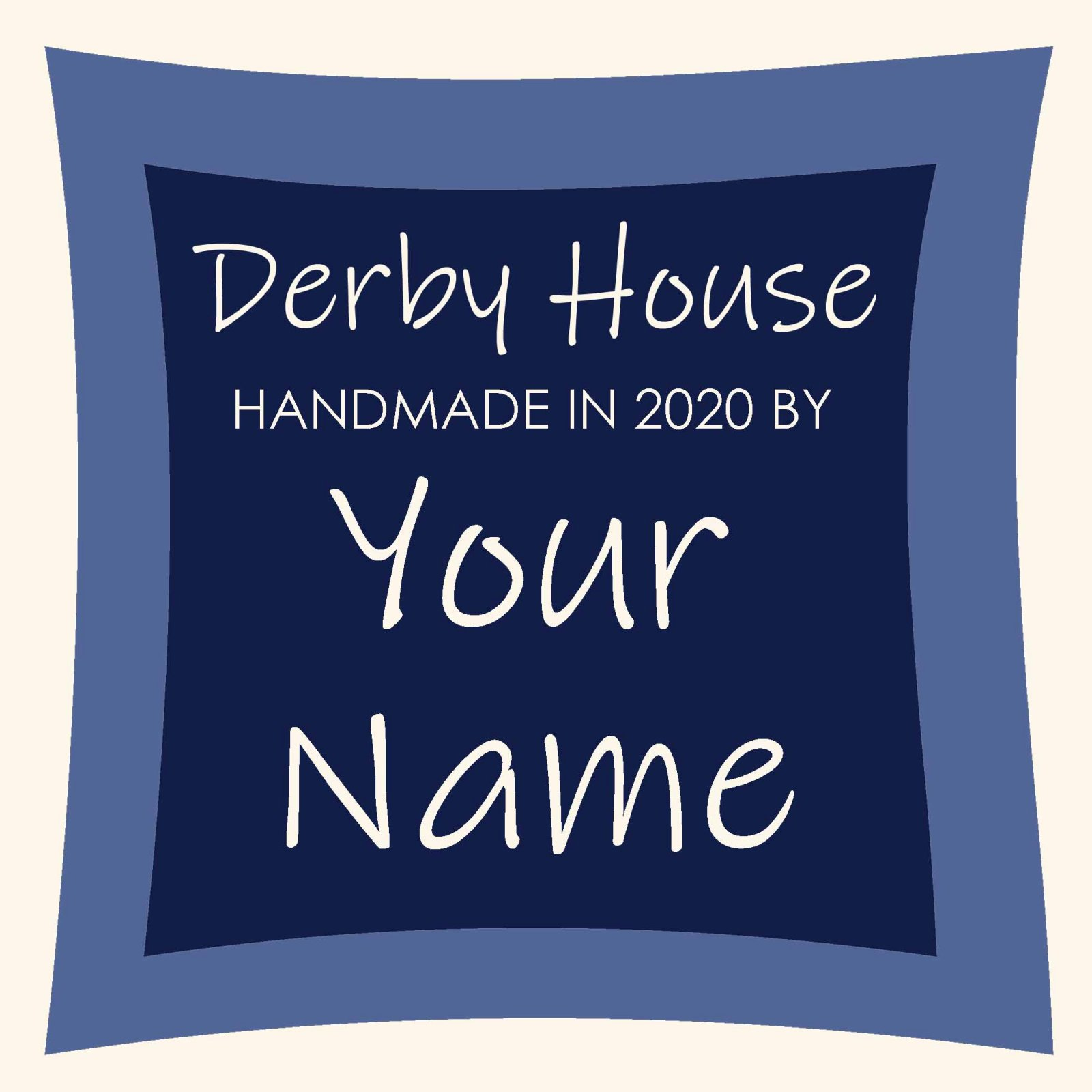 Derby House Custom Quilt Label