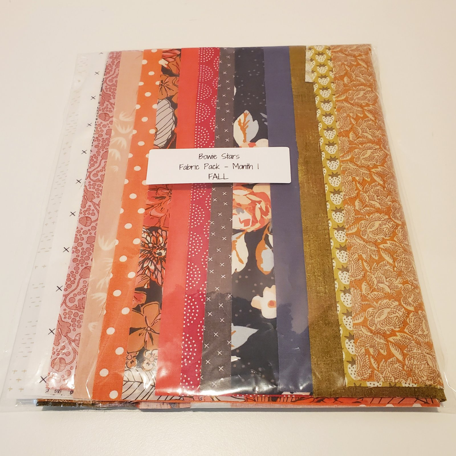 Bowie Stars Fabric Pack Month 1 - Fall