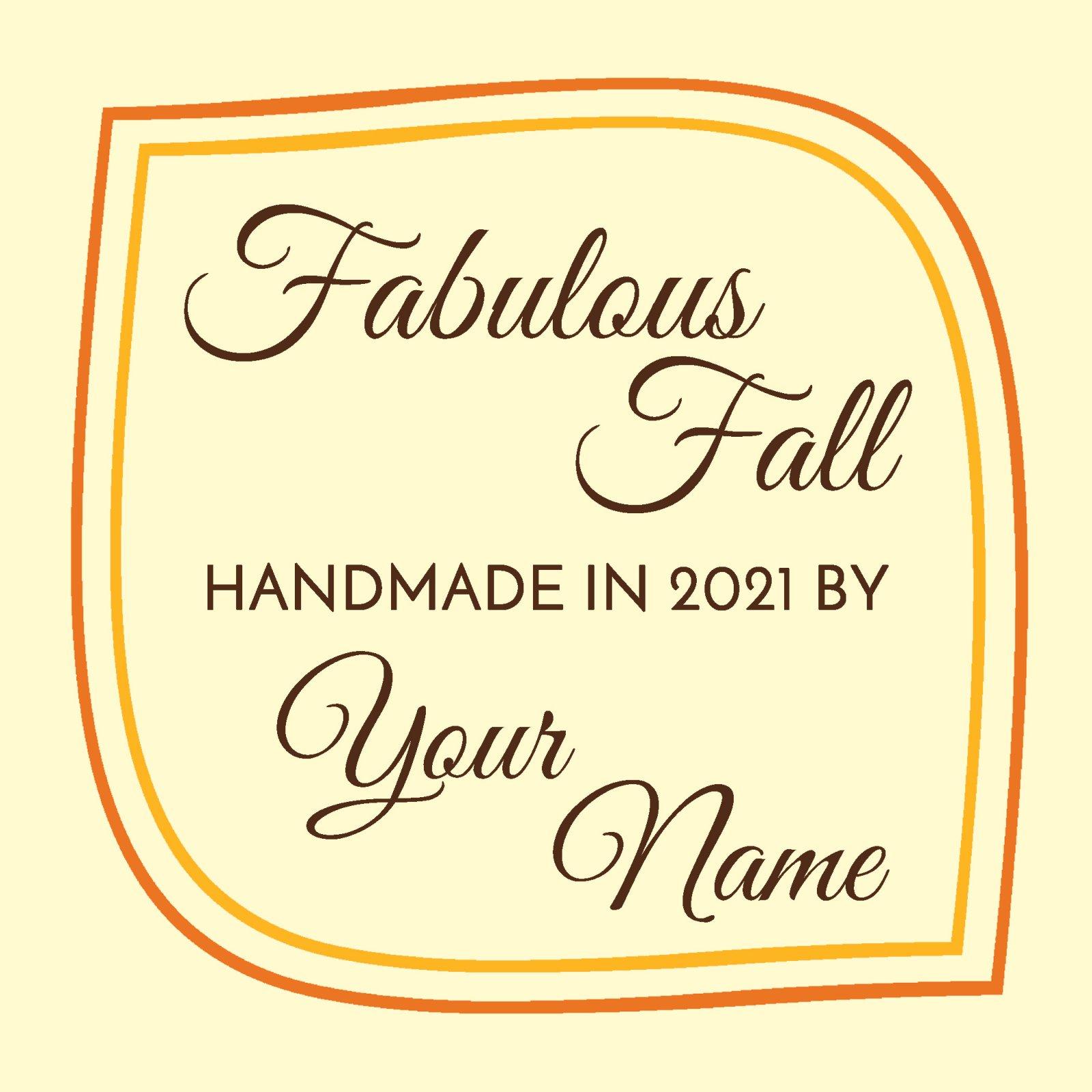 Fabulous Fall Custom Label