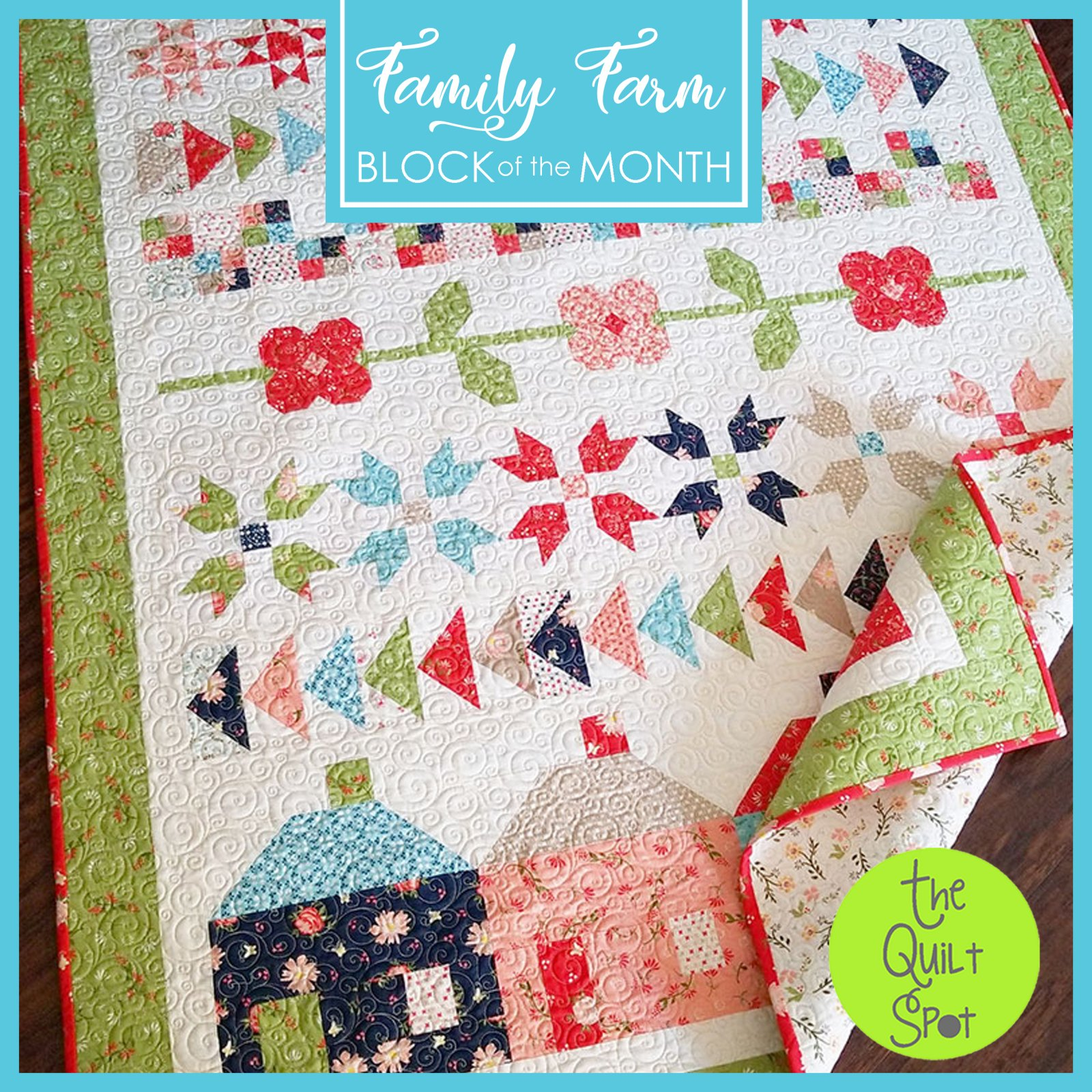 Family Farm Block of the Month by Sherri & Chelsi of A Quilting Life