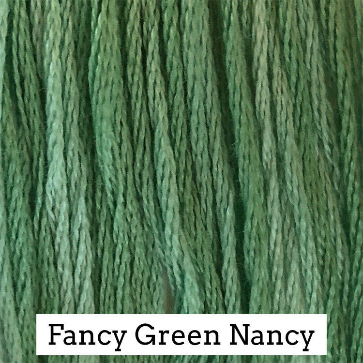 Fancy Green Nancy Classic Colorworks 6 Strand Hand-Dyed Embroidery Floss