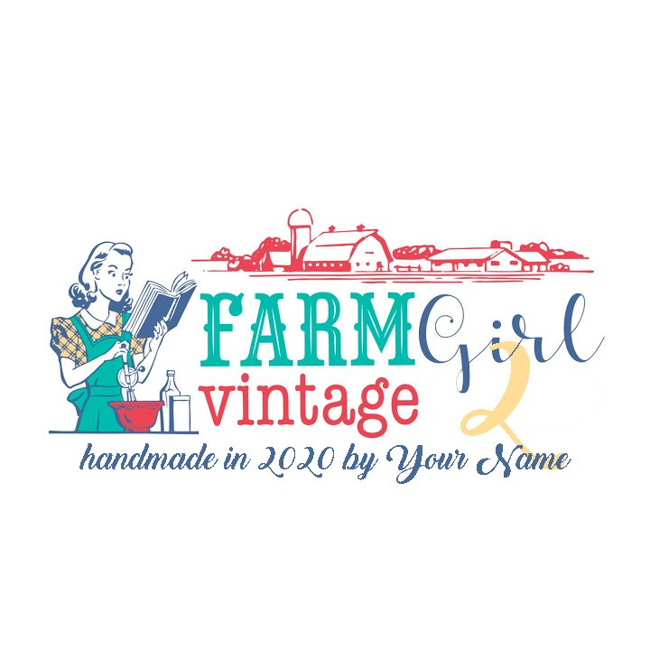 Farm Girl Vintage 2 BOM Custom Quilt Label
