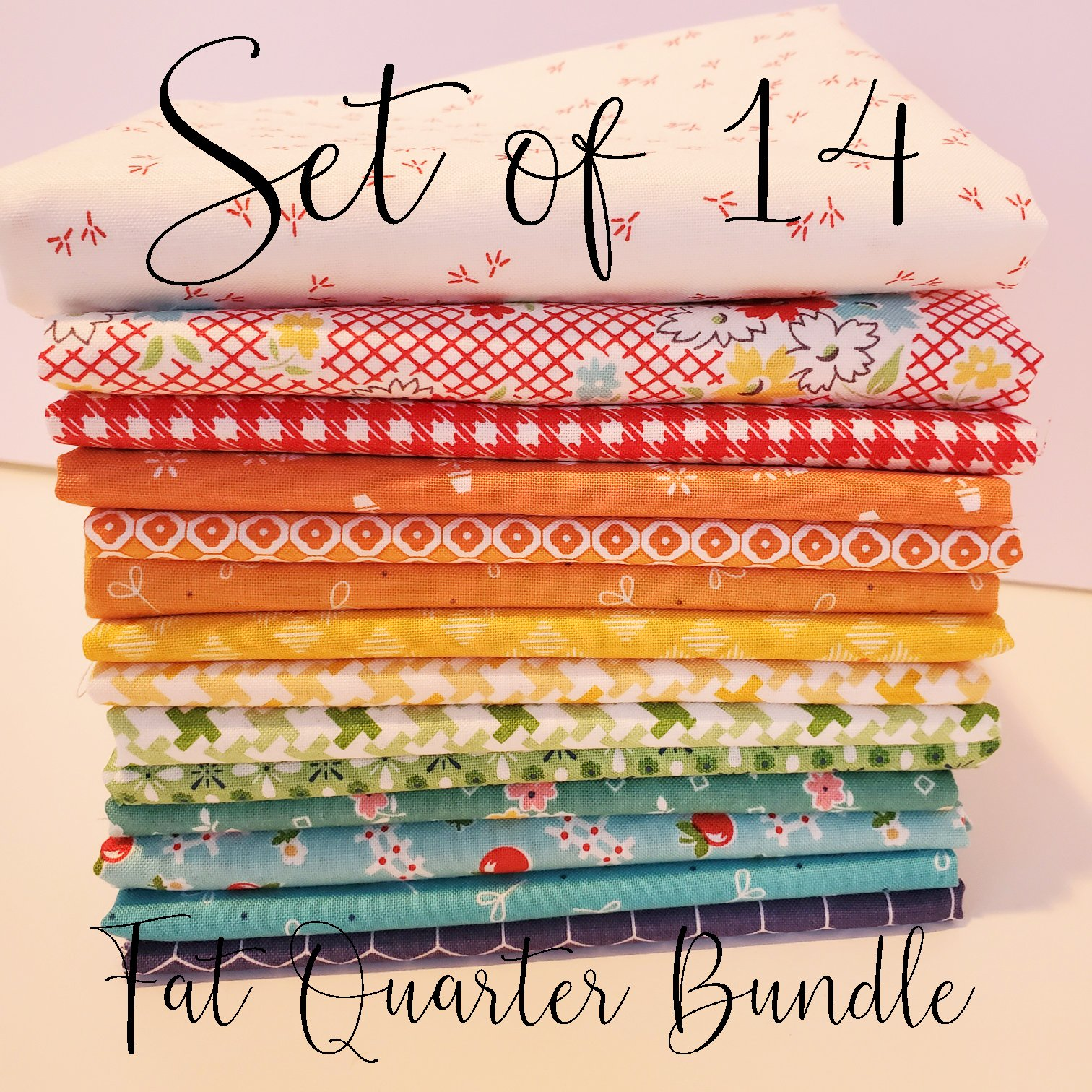Lori Holt Rainbow Fat Quarter Bundle of 14