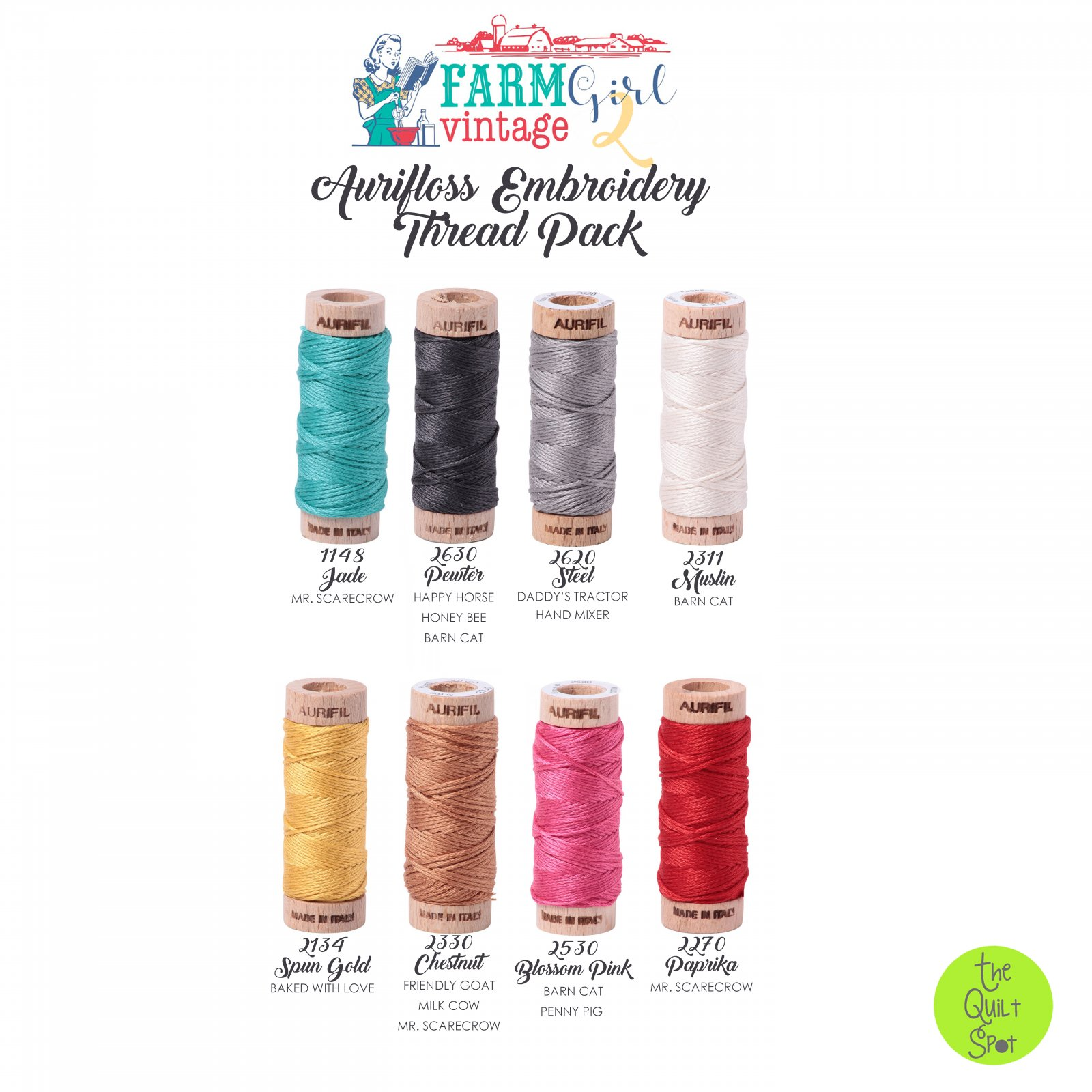 Farm Girl Vintage 2 Aurifloss Embroidery Thread Pack