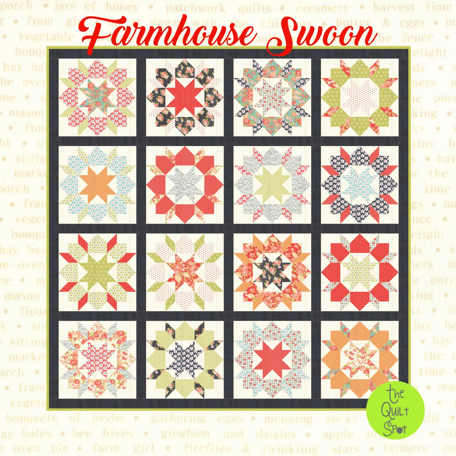 Farmhouse Swoon Quilt Top Kit