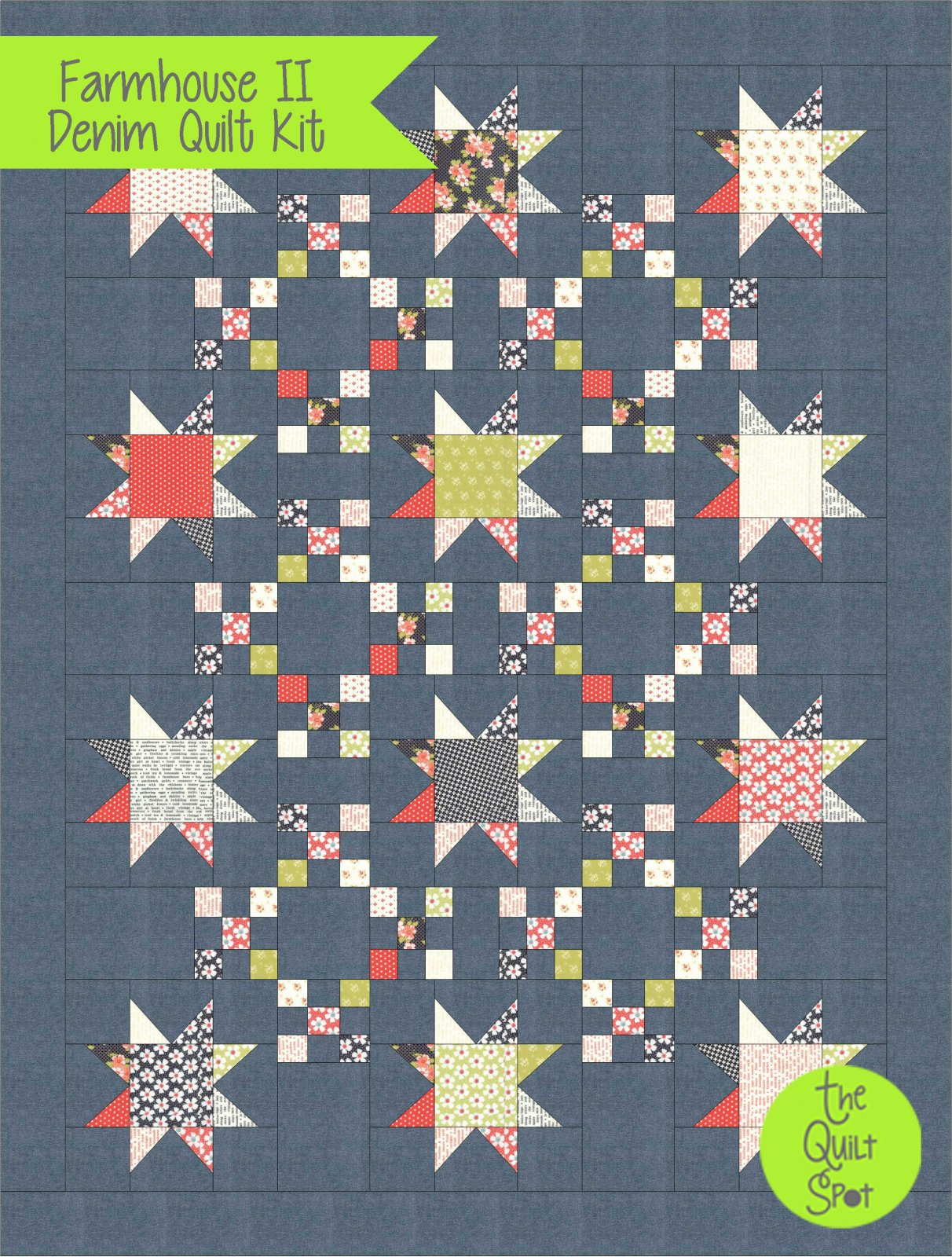 Farmhouse 2 - Nine Patch Star Kit