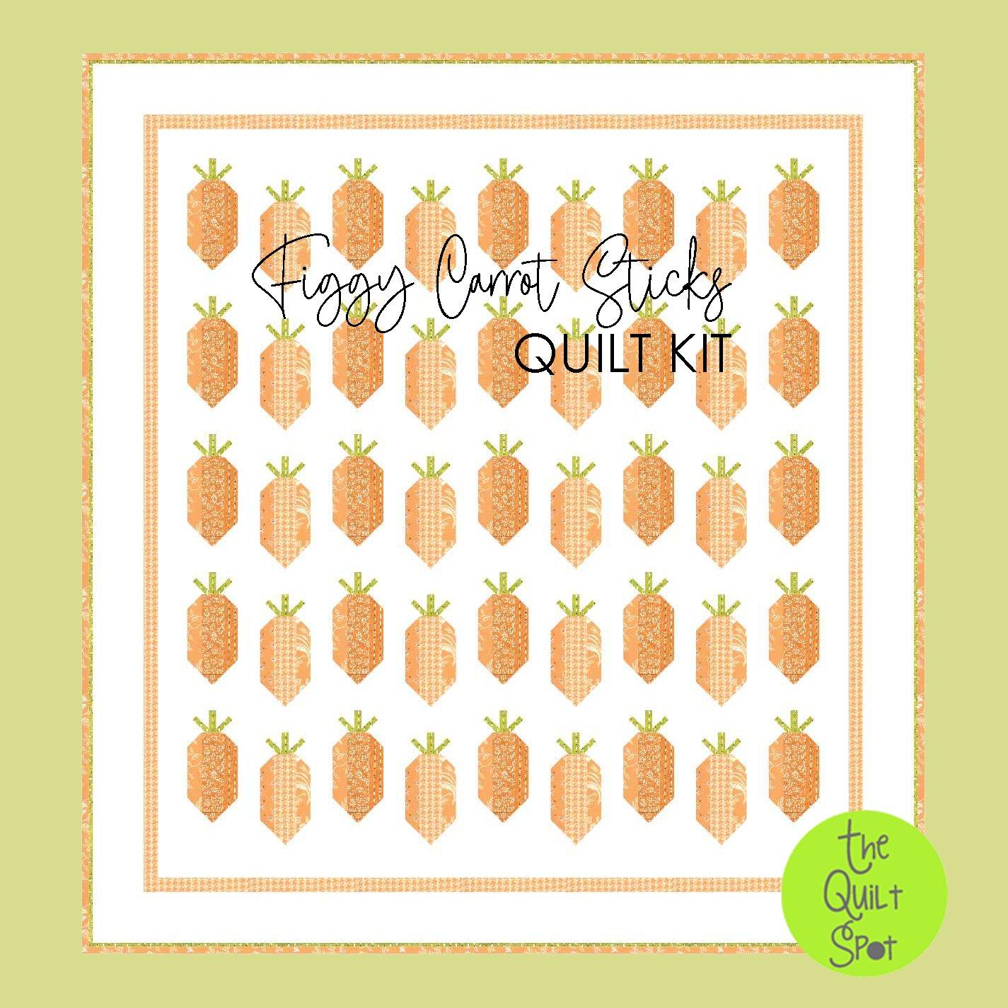 Figgy Carrot Sticks Quilt Kit featuring Fig Tree Fabrics