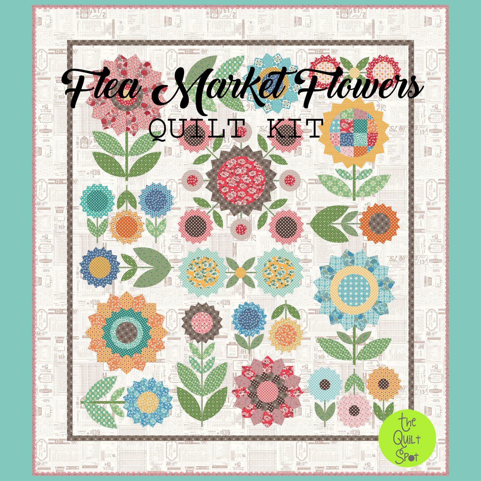 Flea Market Flowers Quilt Kit by Lori Holt
