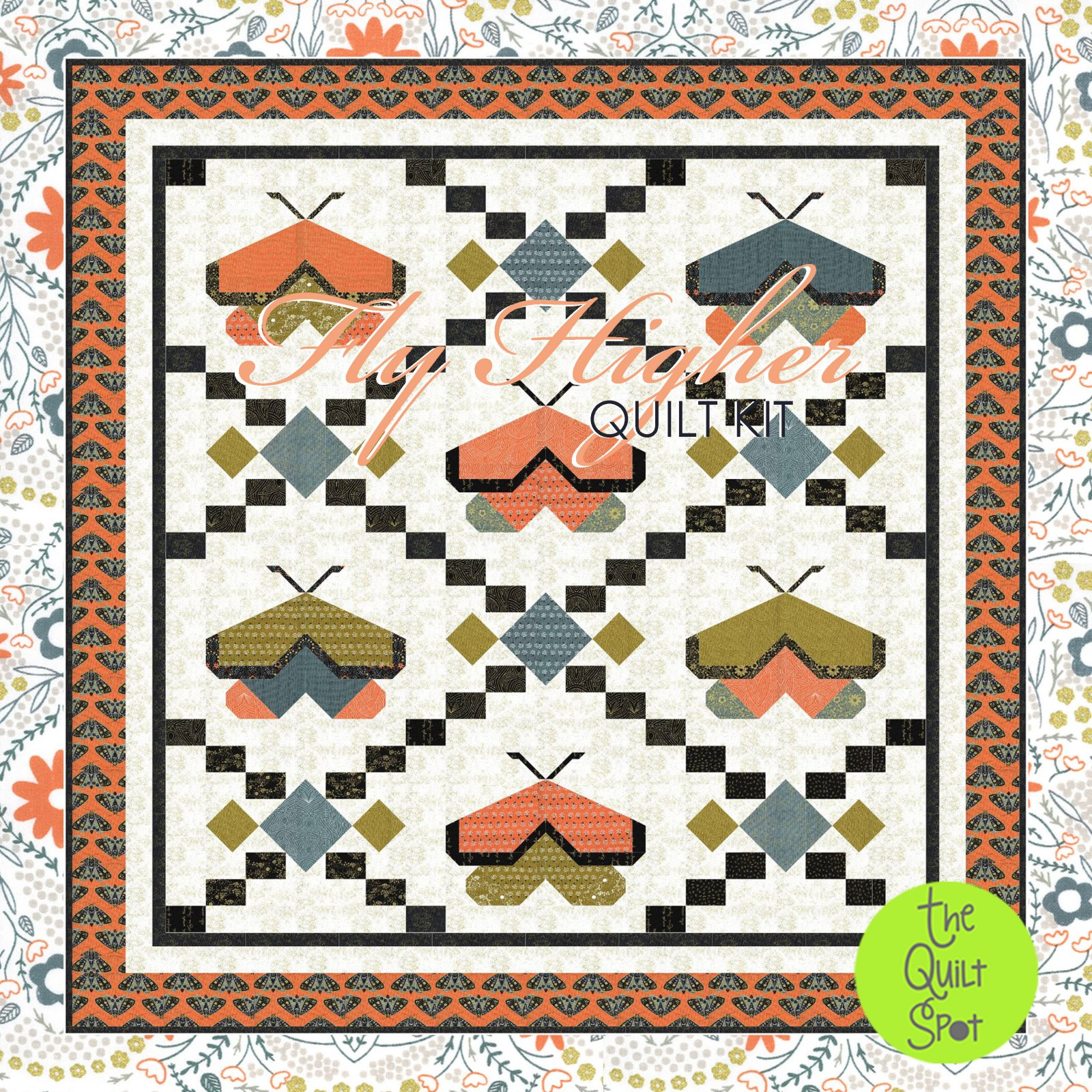 Fly Higher Quilt Kit featuring Dwell in the Possibilities by Gingiber