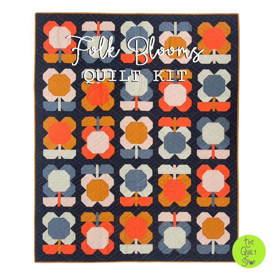 Folk Blooms Quilt Kit