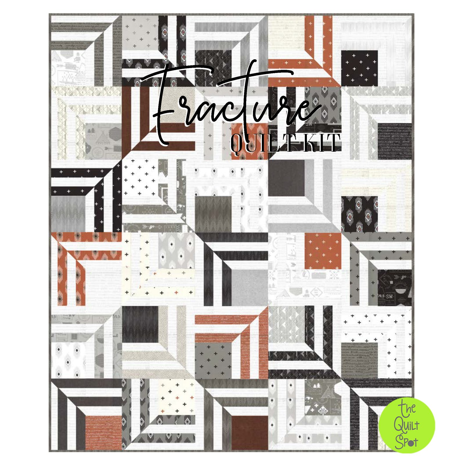 Fracture Quilt Kit featuring Smoke & Rust by Lella Boutique