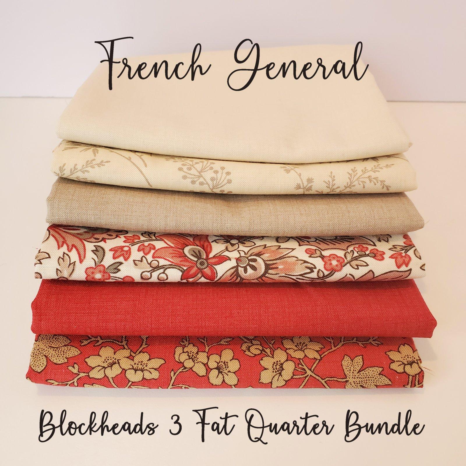 French General Blockheads 3 Fat Quarter Bundle