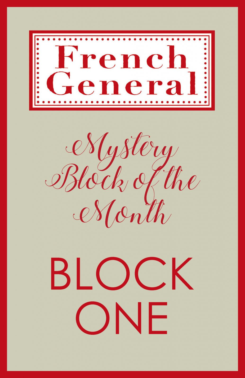 French General Mystery BOM Month 1 Digital Download