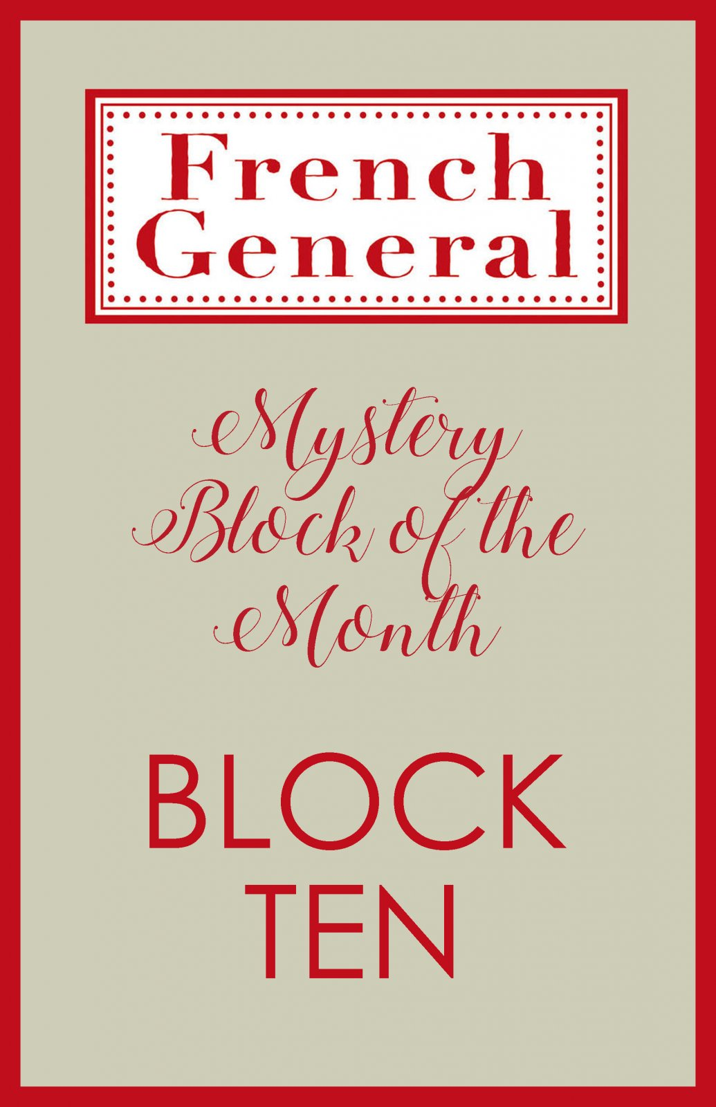 French General Mystery BOM Month 10 Digital Download