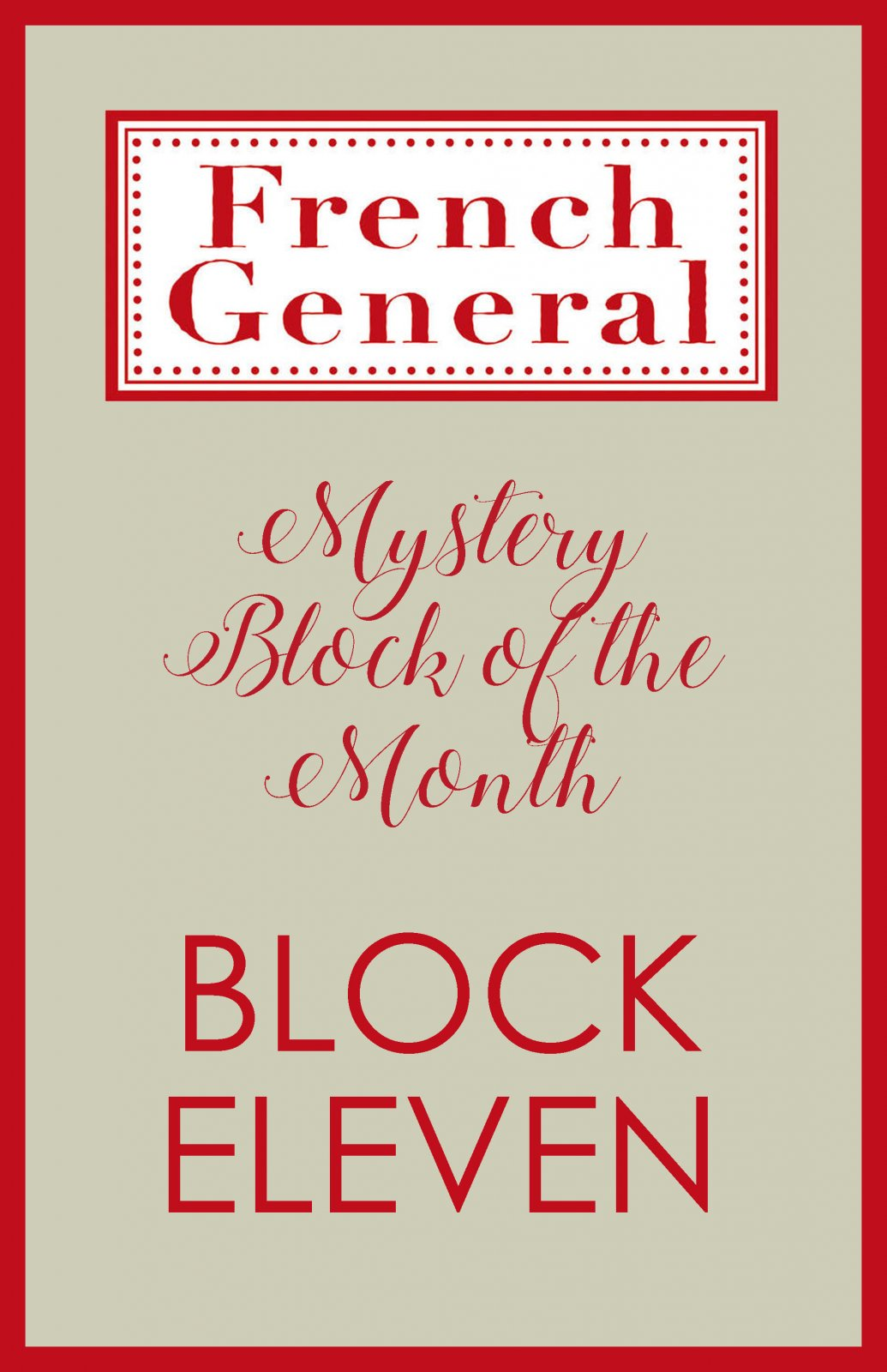 French General Mystery BOM Month 11 Digital Download