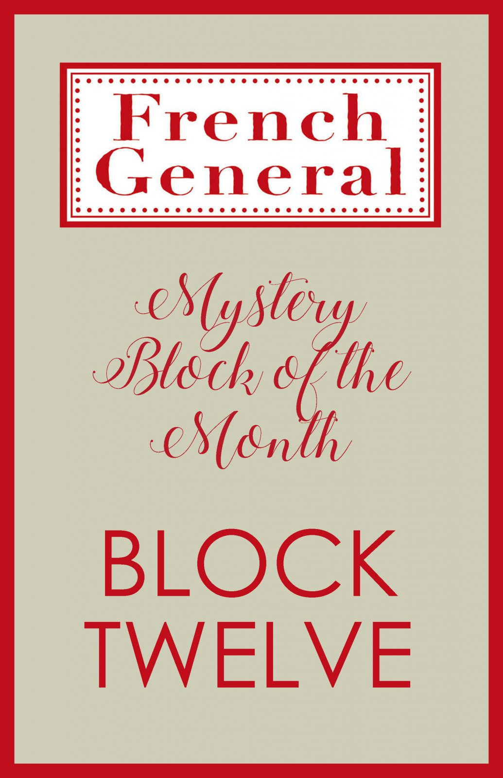French General Mystery BOM Month 12 Digital Download