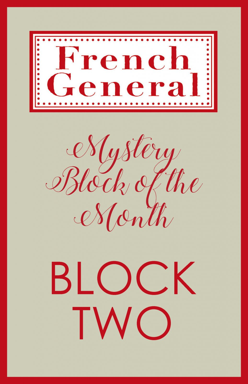 French General Mystery BOM Month 2 Digital Download