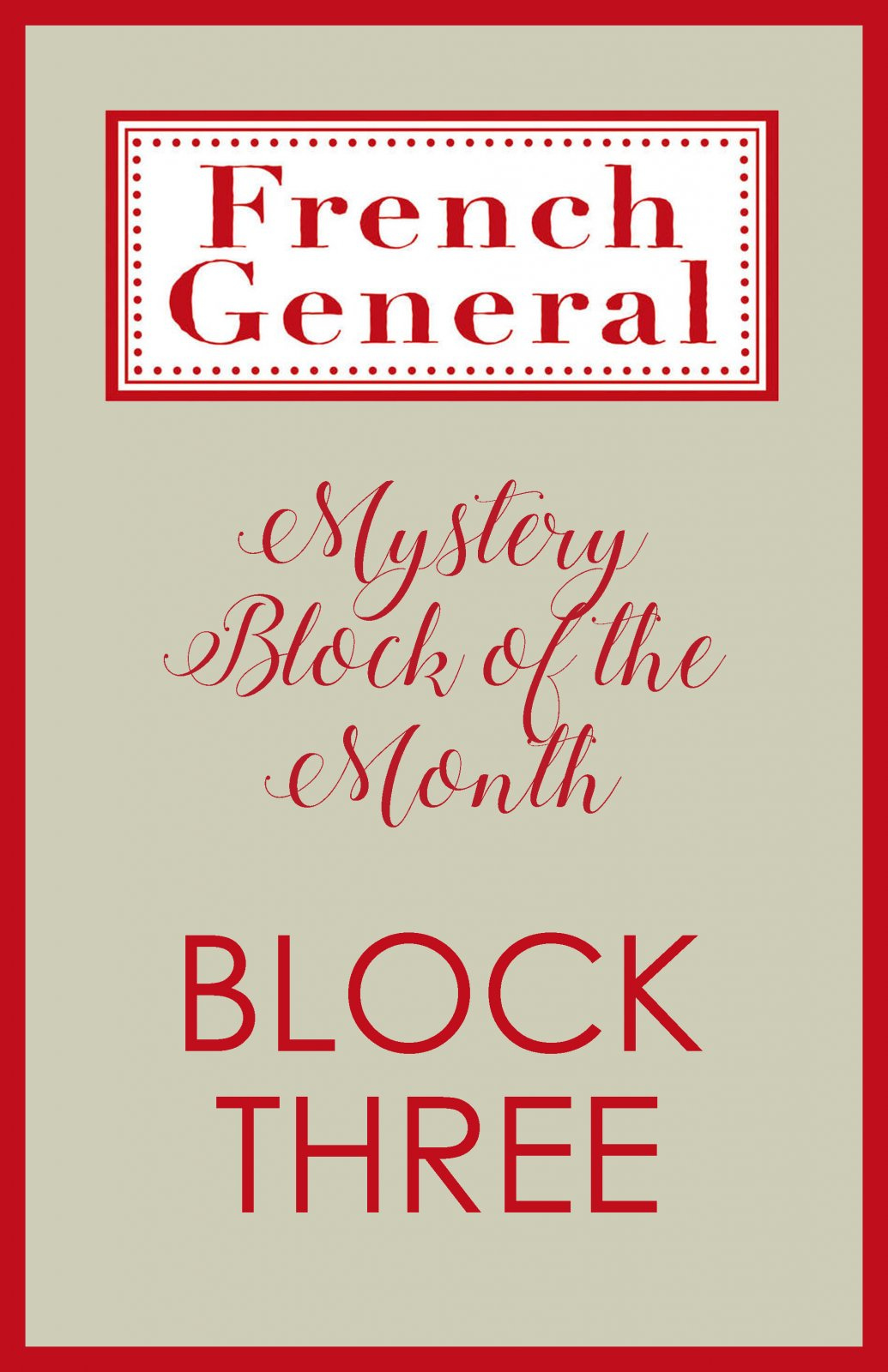 French General Mystery BOM Month 3 Digital Download