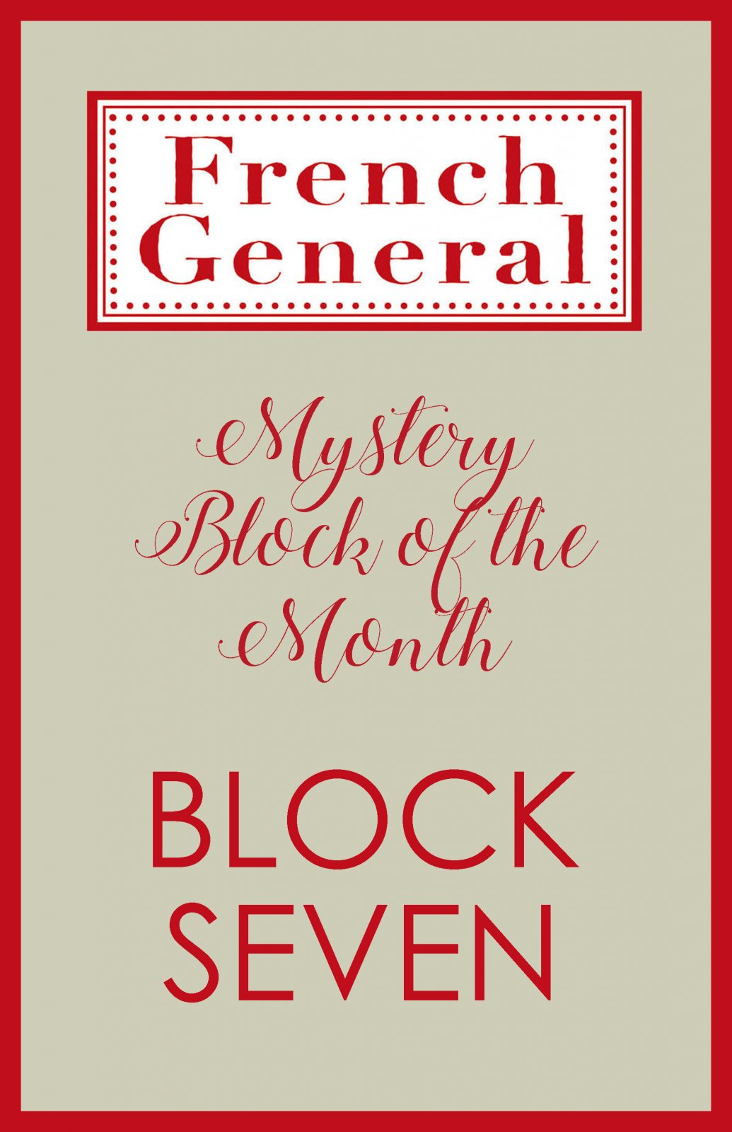 French General Mystery BOM Month 7 Digital Download
