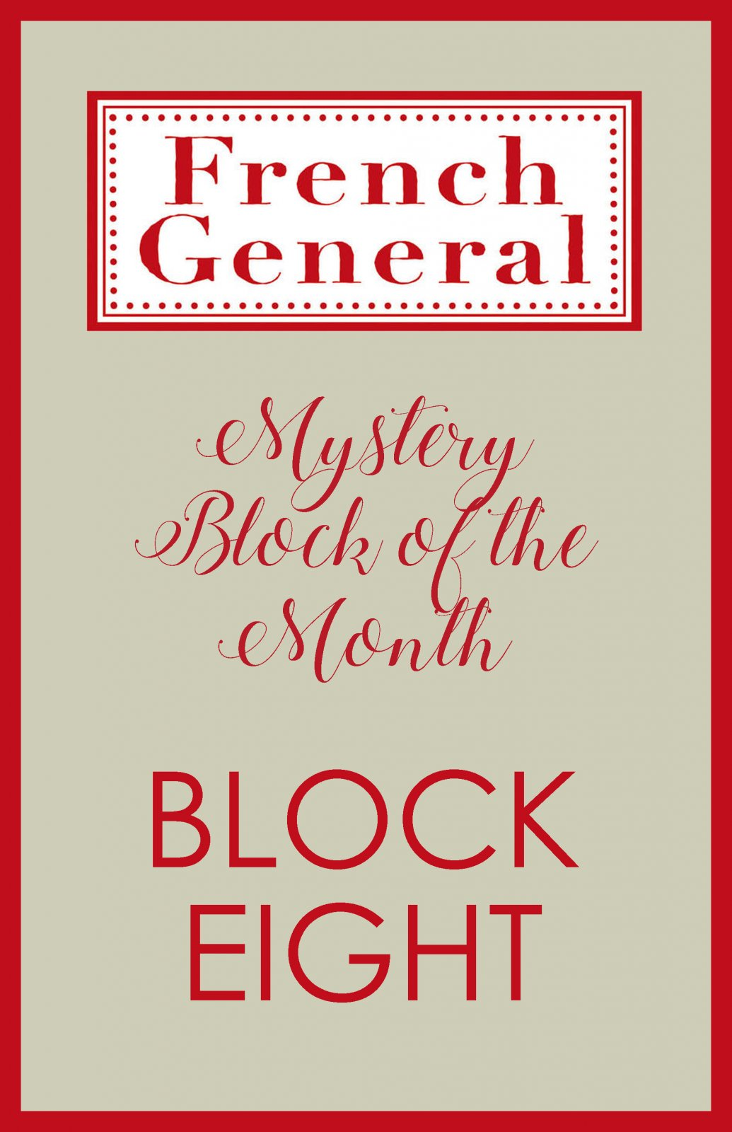 French General Mystery BOM Month 8 Digital Download