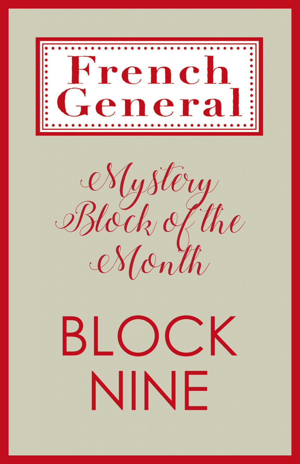 French General Mystery BOM Month 9 Digital Download