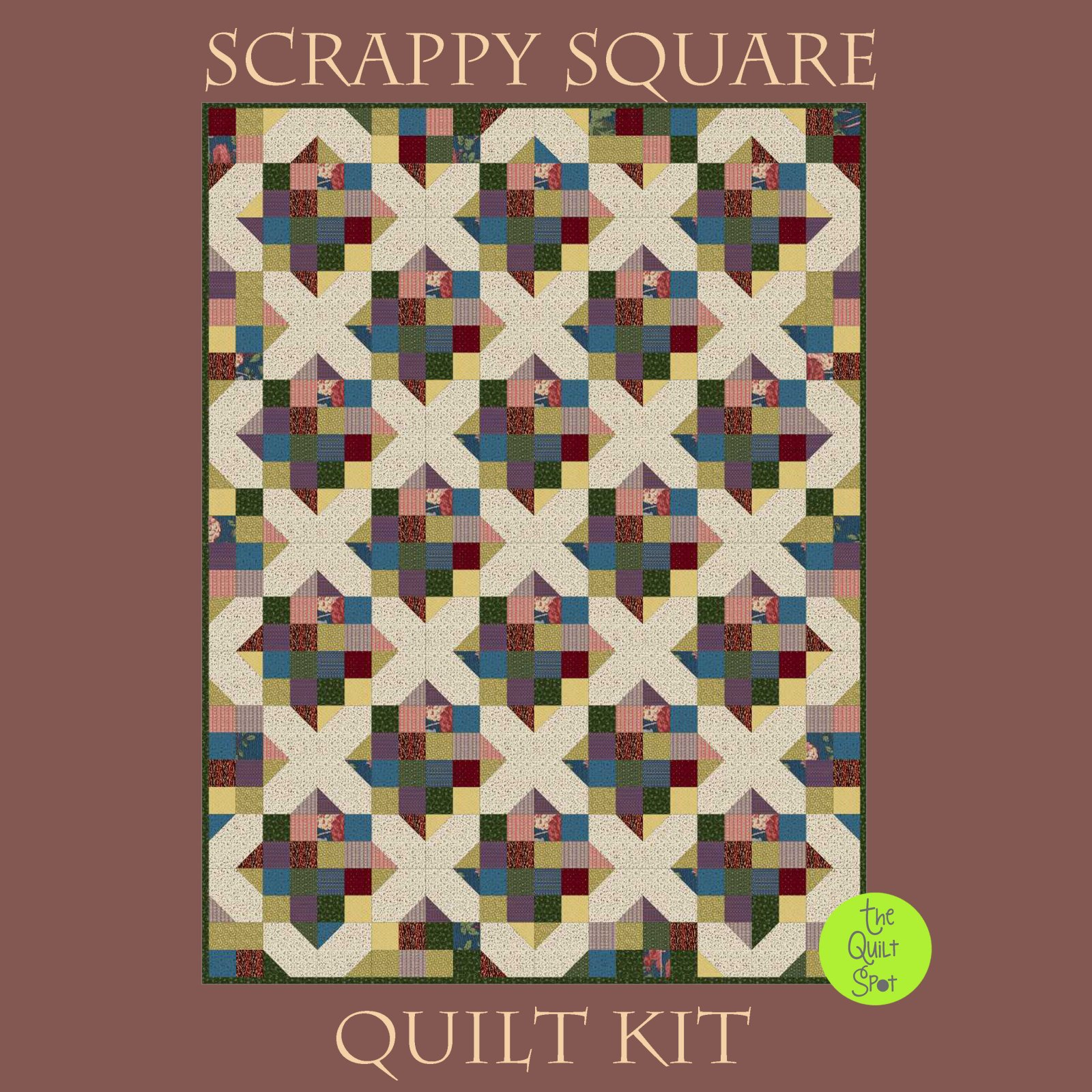 Scrappy Square Quilt Kit featuring Full Circly by Sarah Maxwell