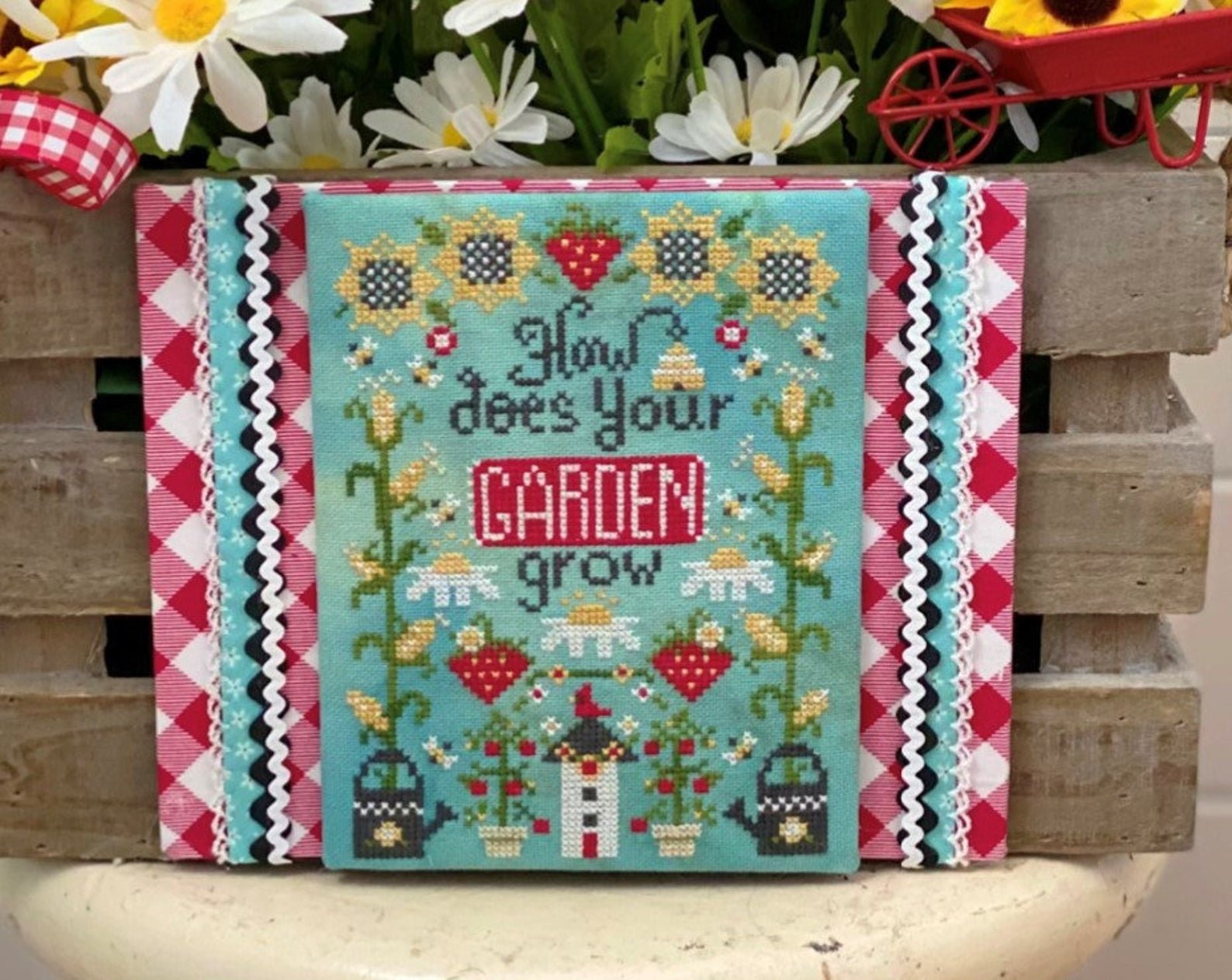 How Does Your Garden Grow Cross Stitch Pattern by Stitching with the Housewives