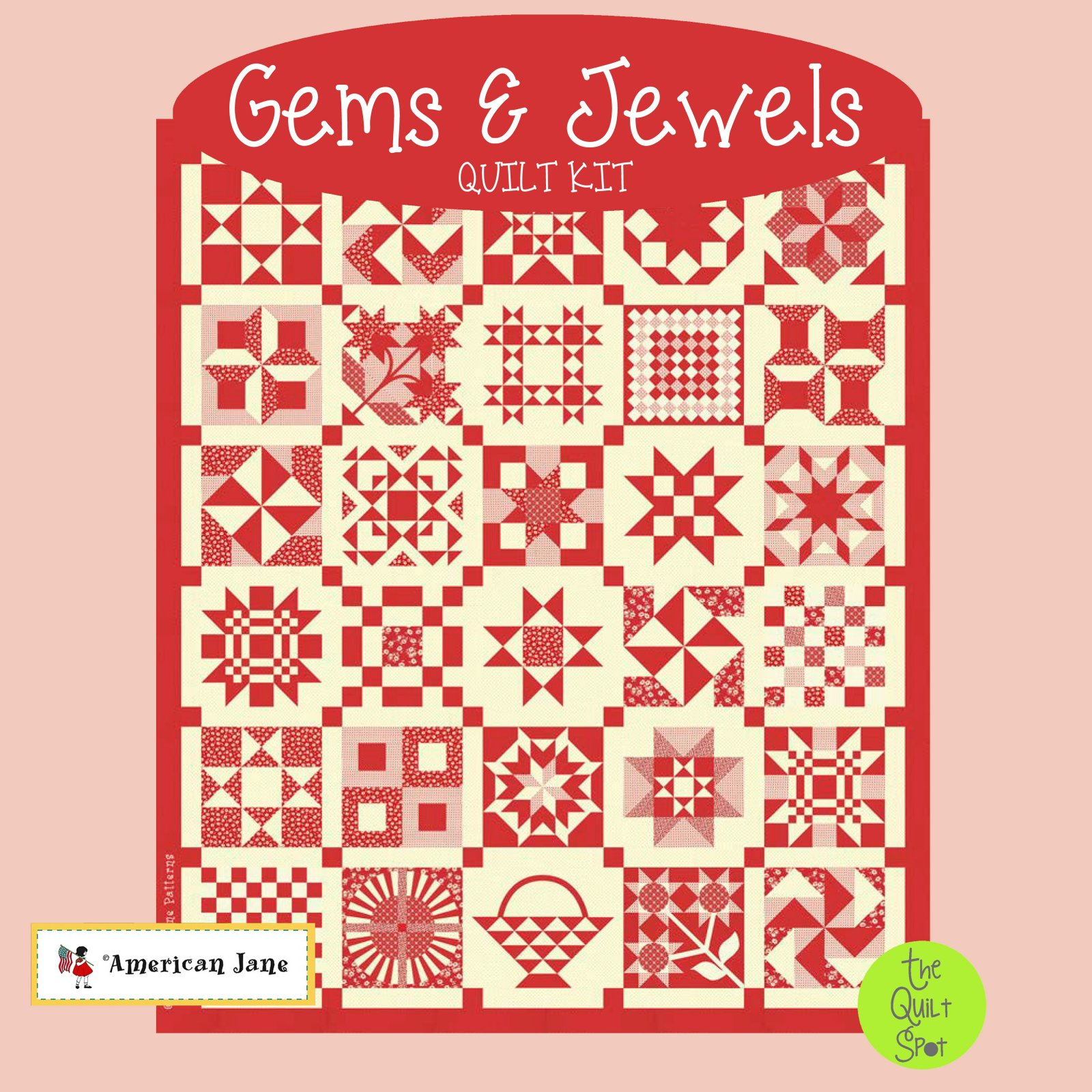 Gems & Jewels Quilt Kit - Red Colorway