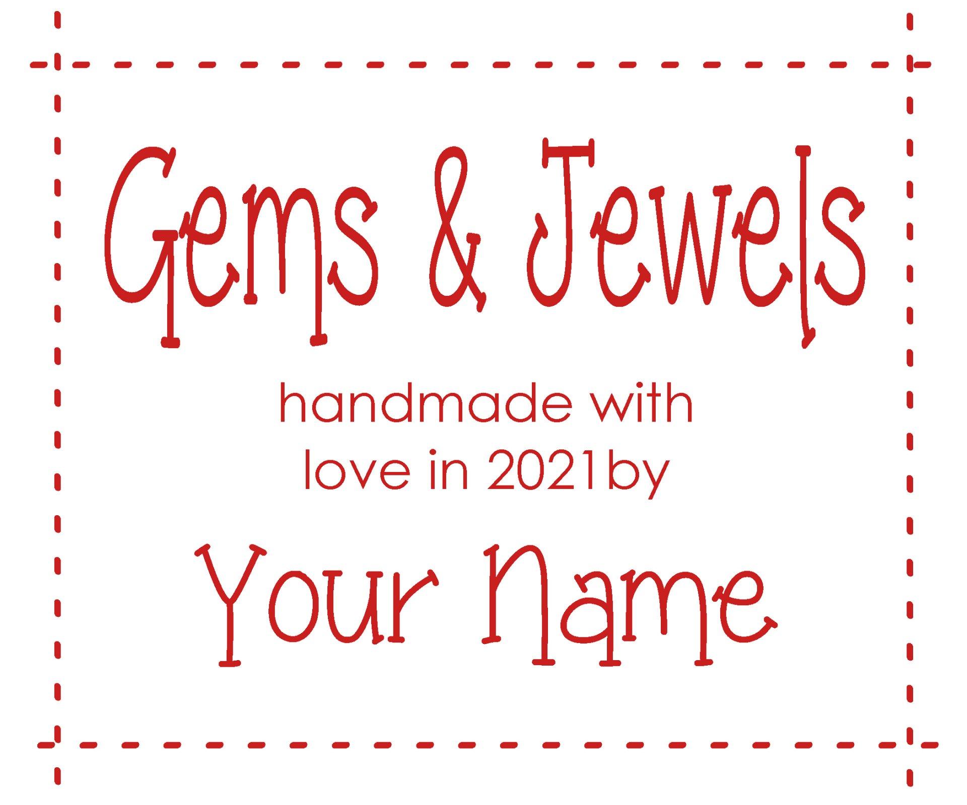 Gems & Jewels Custom Label Red