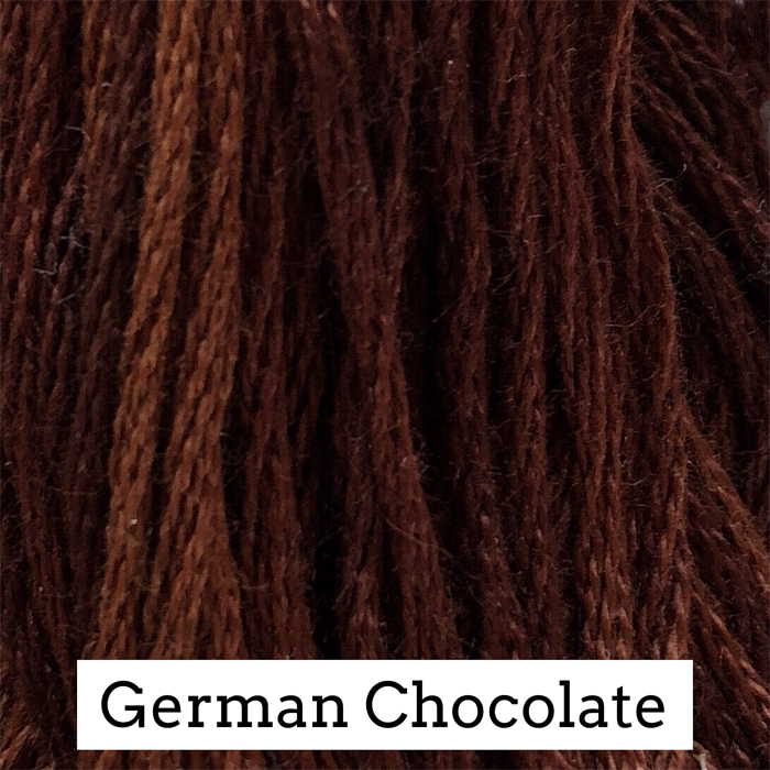 German Chocolate Classic Colorworks 6 Strand Hand-Dyed Embroidery Floss