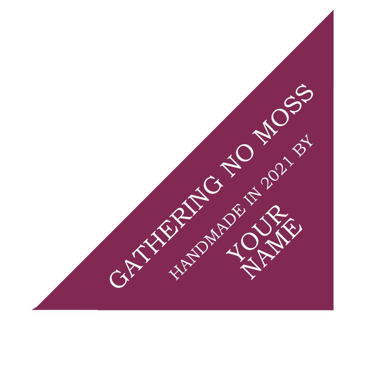 Gathering No Moss Custome Quilt Label Gemstone