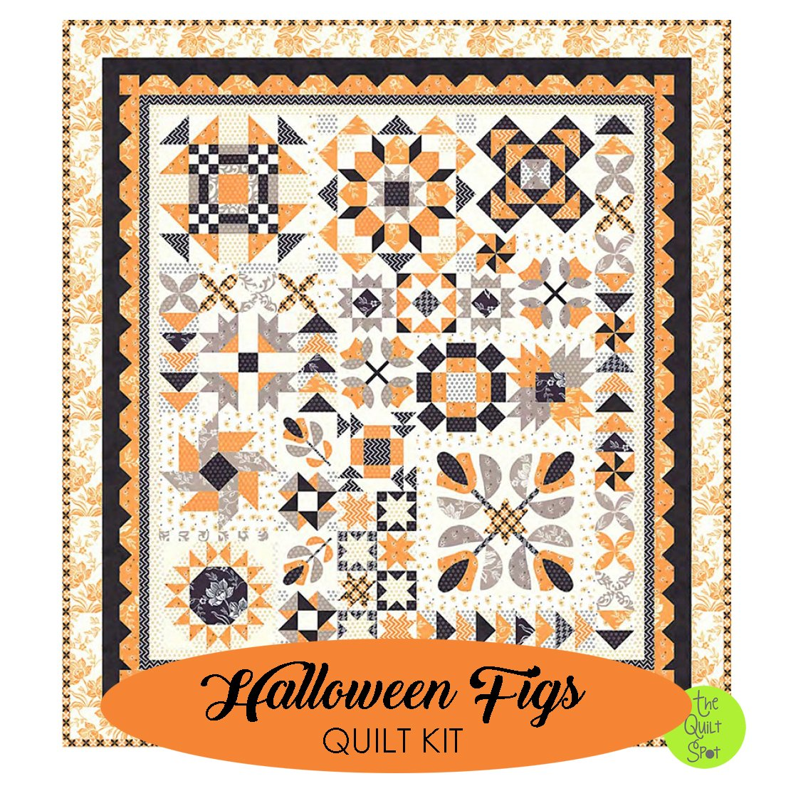 Halloween Figs Complete Quilt Top Kit