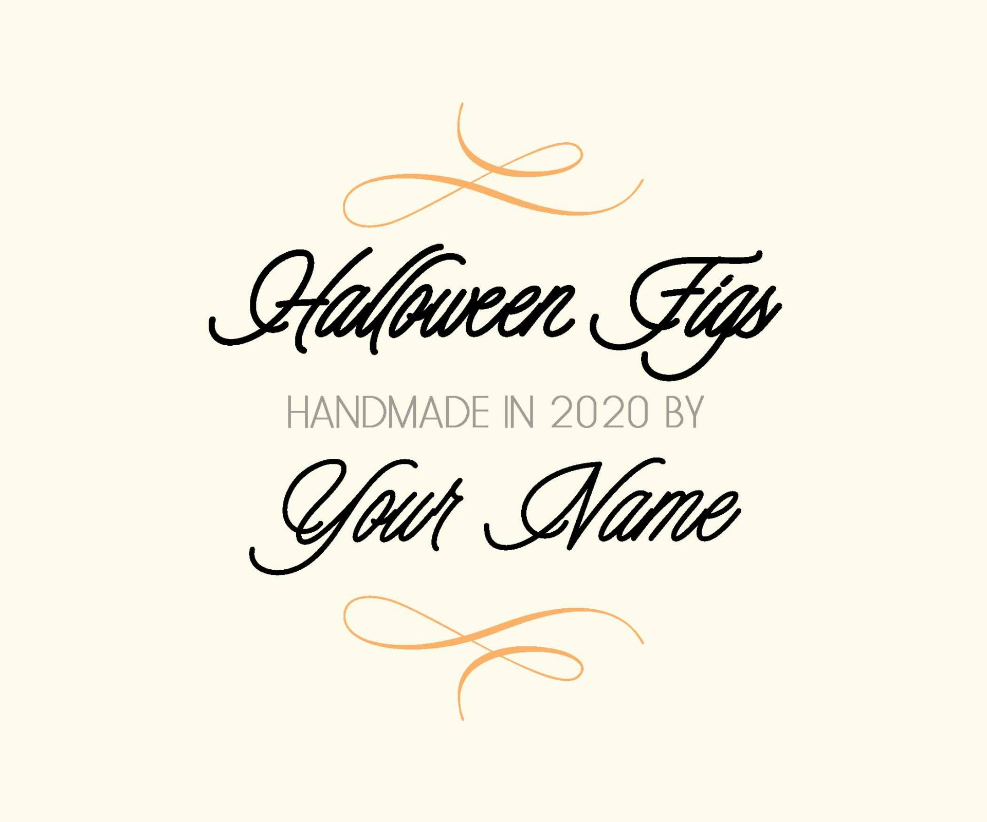Halloween Figs Custom Label