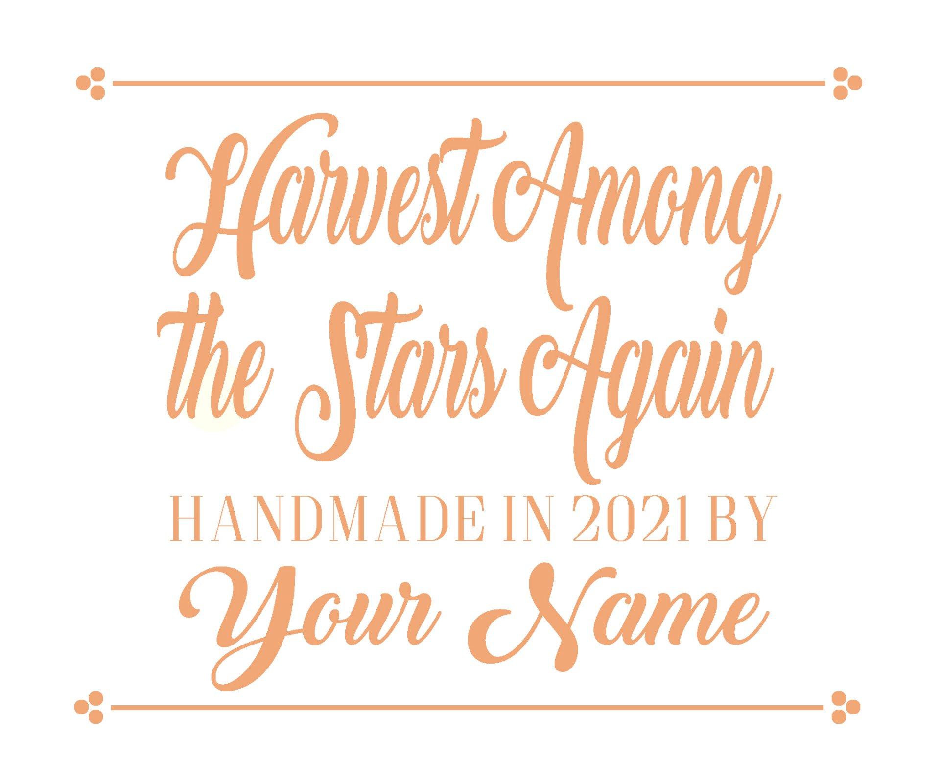 Harvest Among the Star Custom Quilt Label