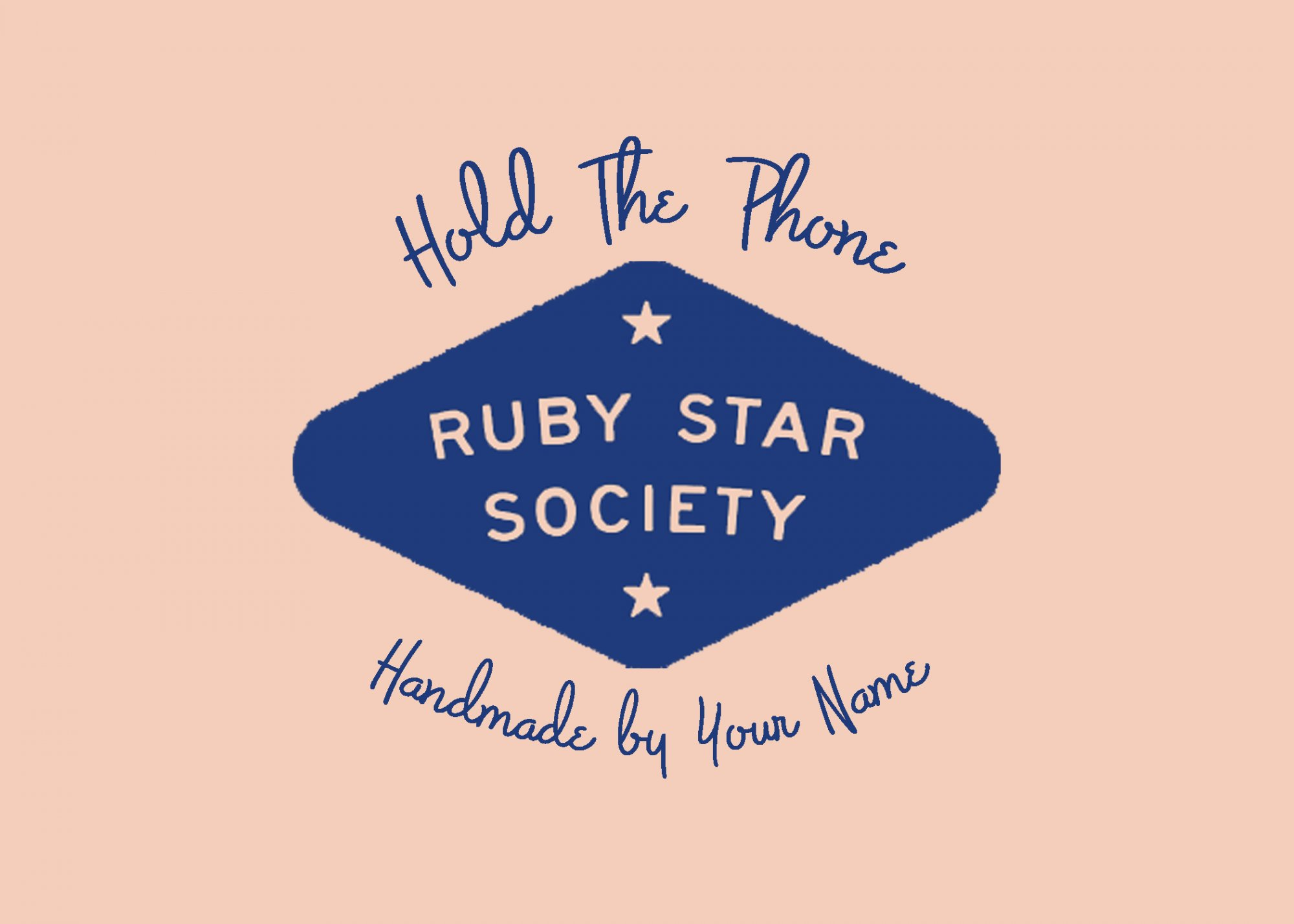 Hold the Phone Custom Quilt Label