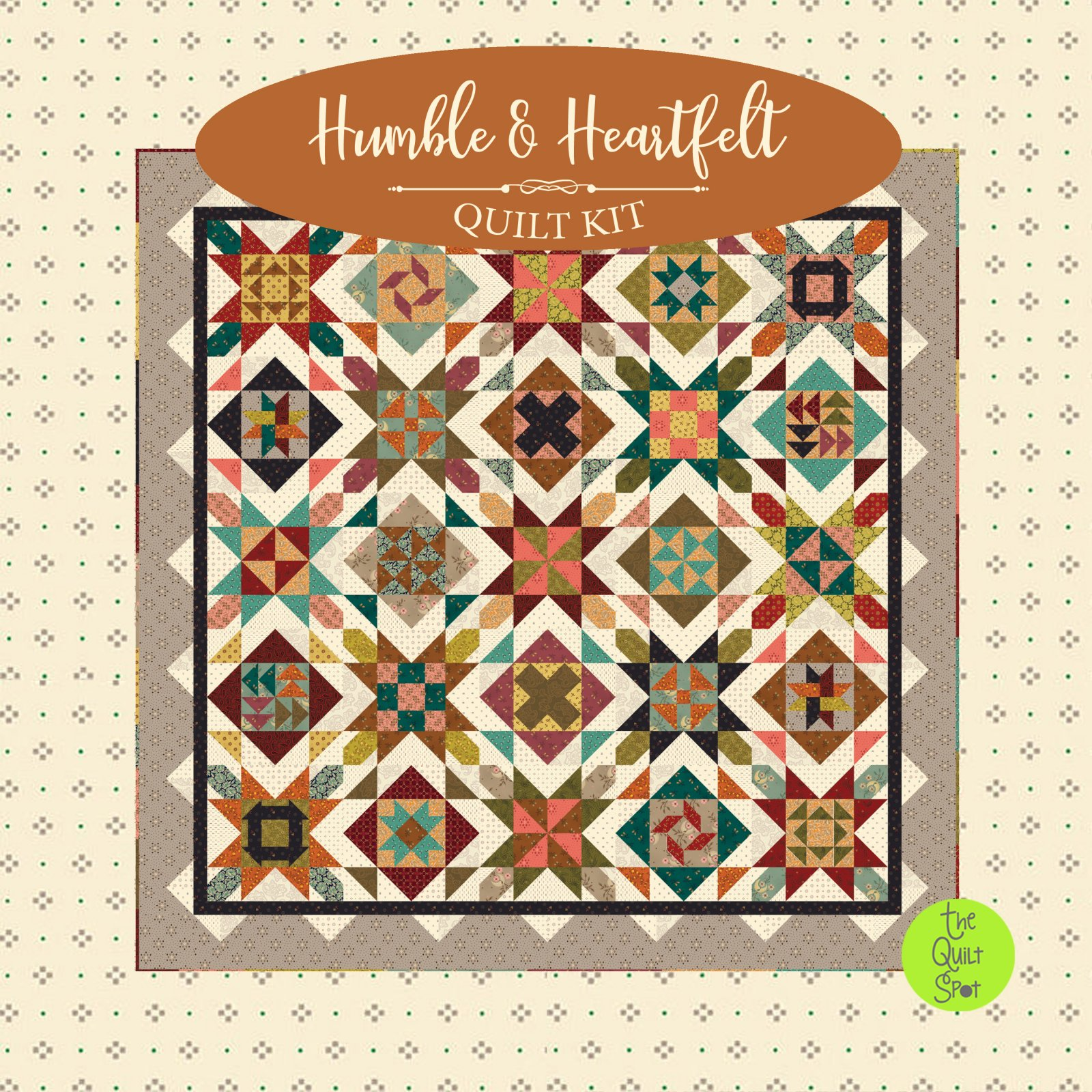 Humble & Heartfelt Quilt Kit by Kim Diehl featuring Gratitude and Grace