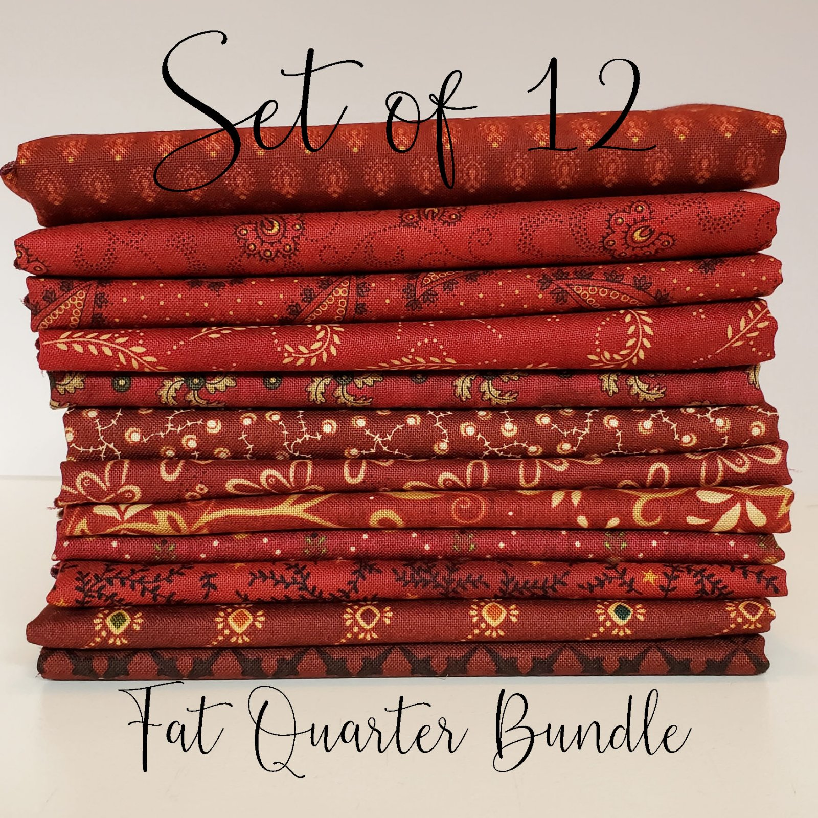 Idaho Prairie Reds - 12 Fat Quarter Bundle
