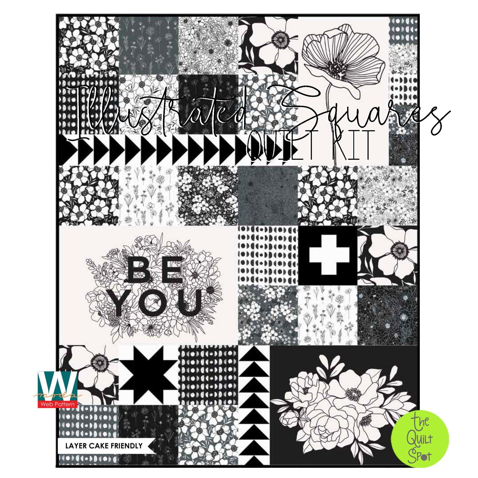 Illustrated Squares Quilt Kit by Alli K Designs