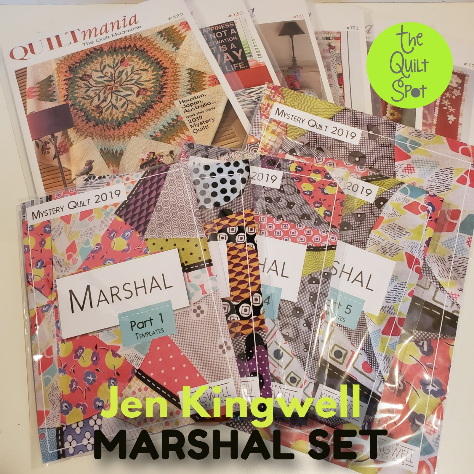 Jen Kingwell Marshal Complete Set - Quilt Mania Mystery Quilt 2019