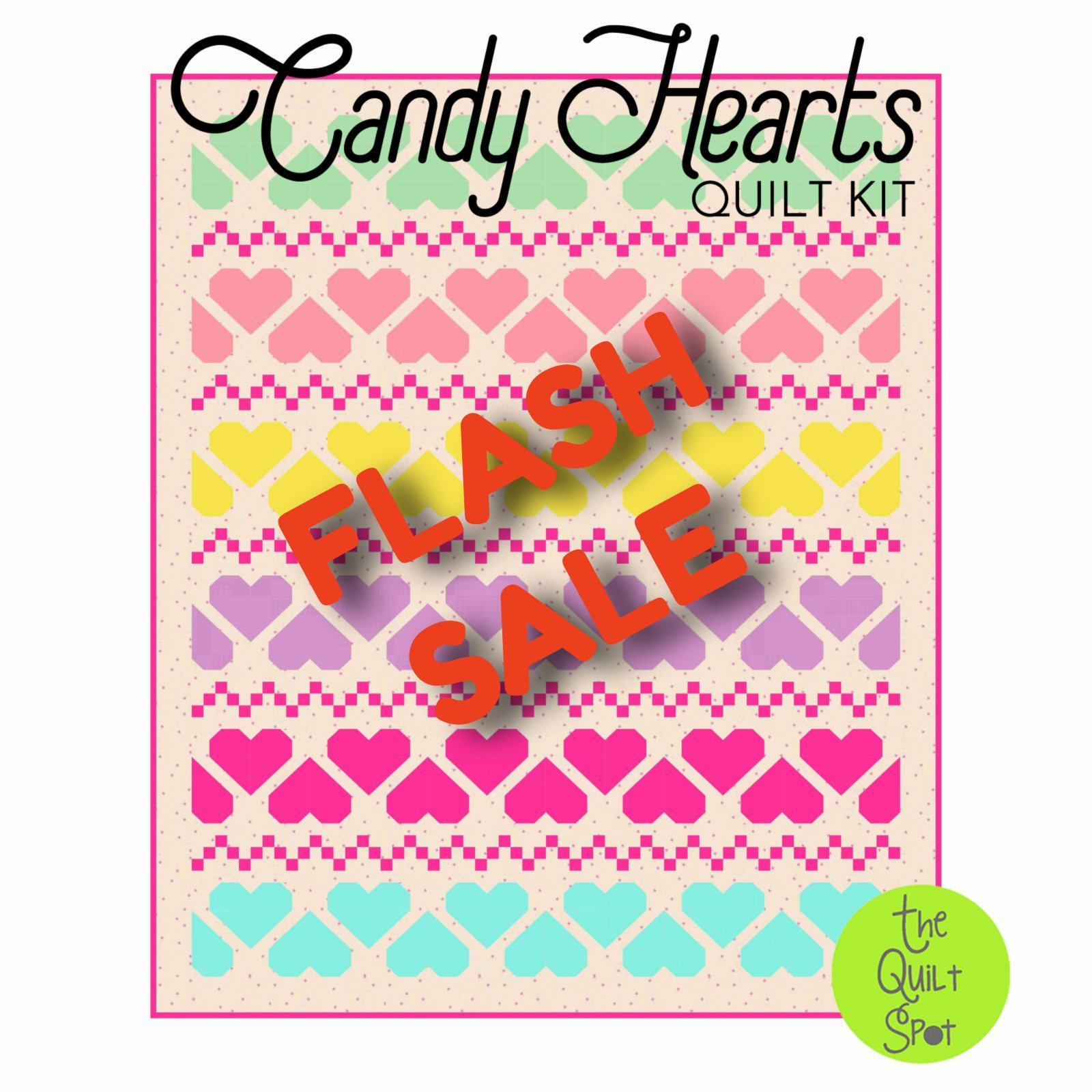 Candy Hearts Quilt Kit