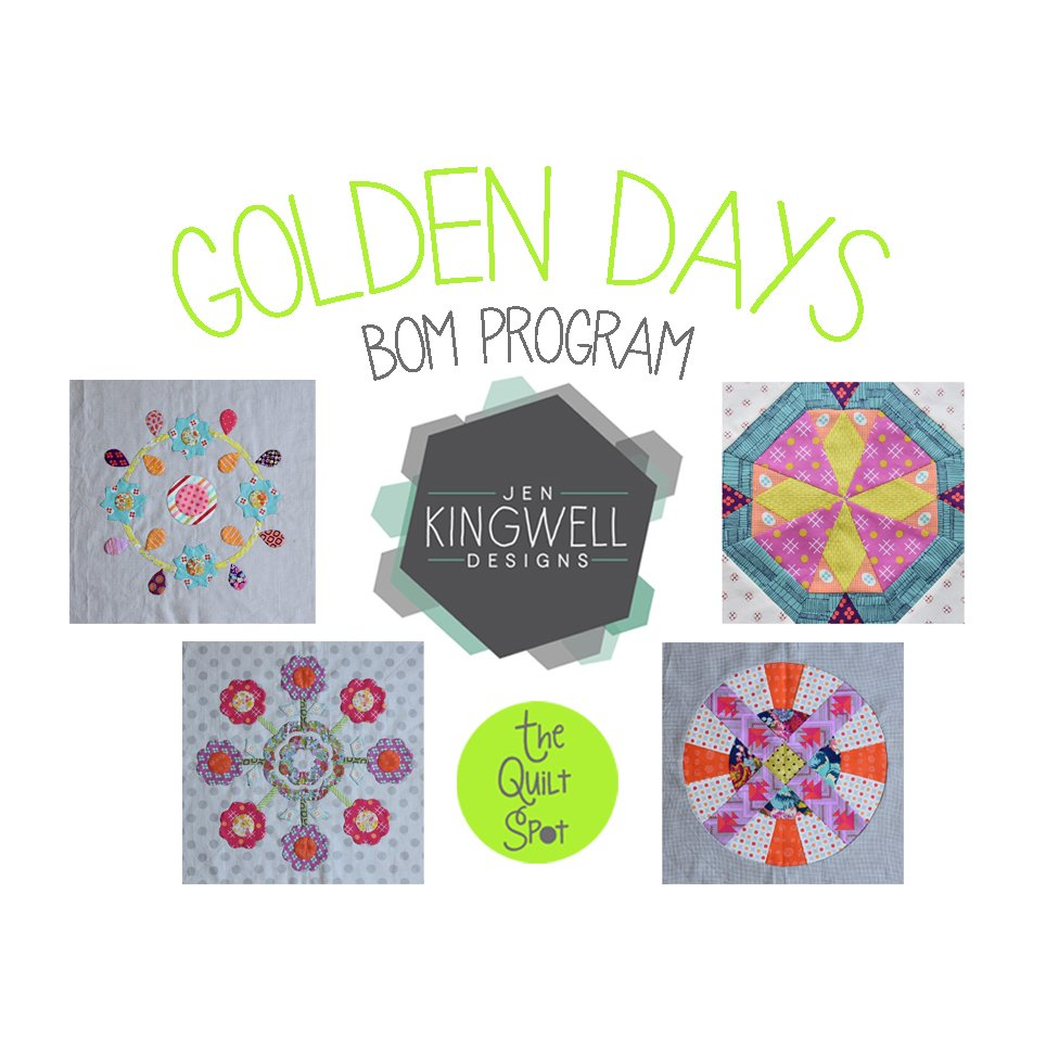 Jen Kingwell Golden Days Block of the Month