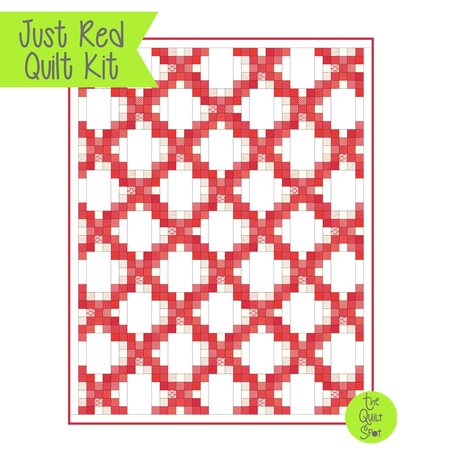 Just Red Quilt Kit