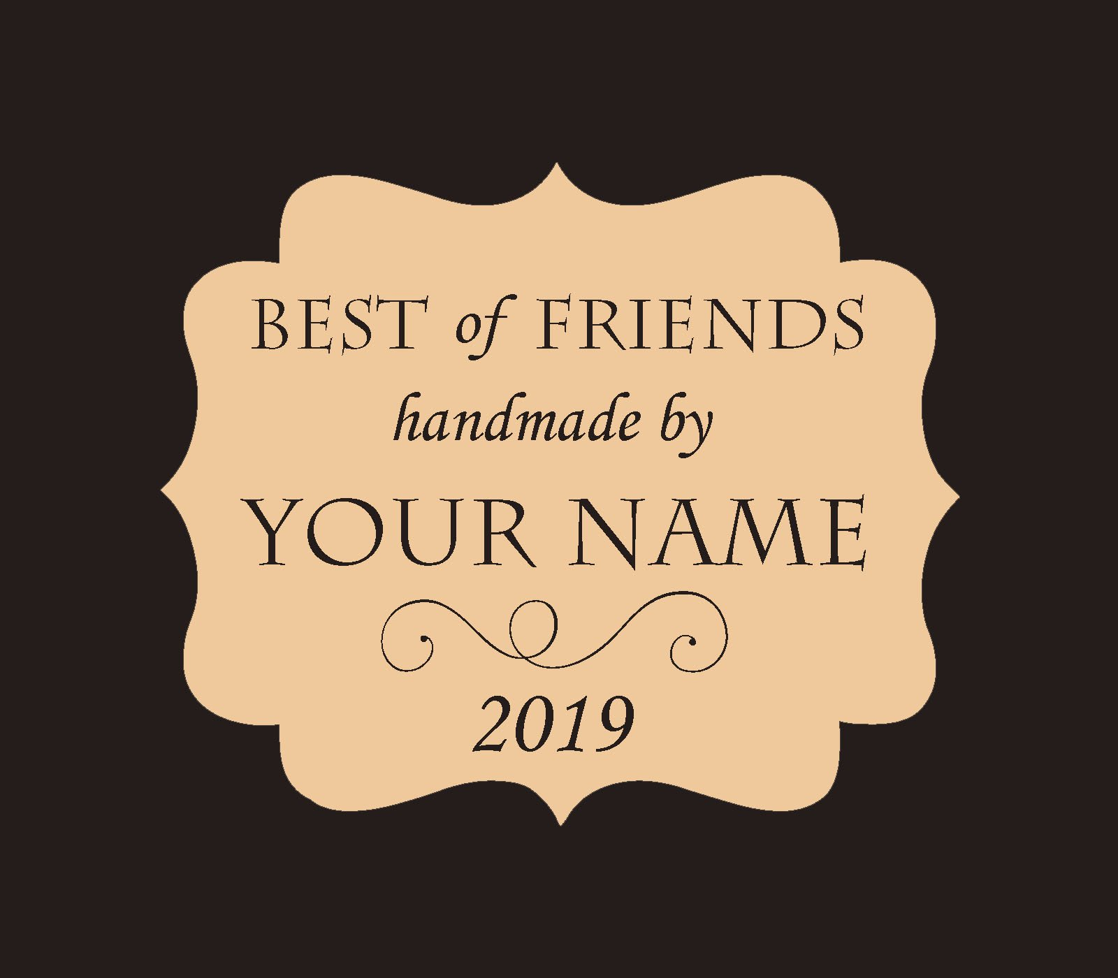 Kim Diehl Best of Friends BOM Custom Quilt Label