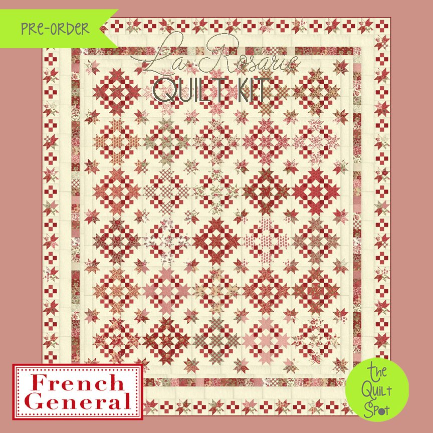 La Rosarie Quilt Top Kit by French General Fabrics