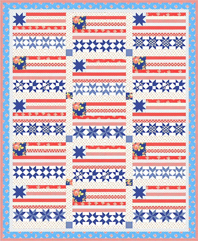 Stars and Stripes Forever Quilt Kit by Fig Tree & Co