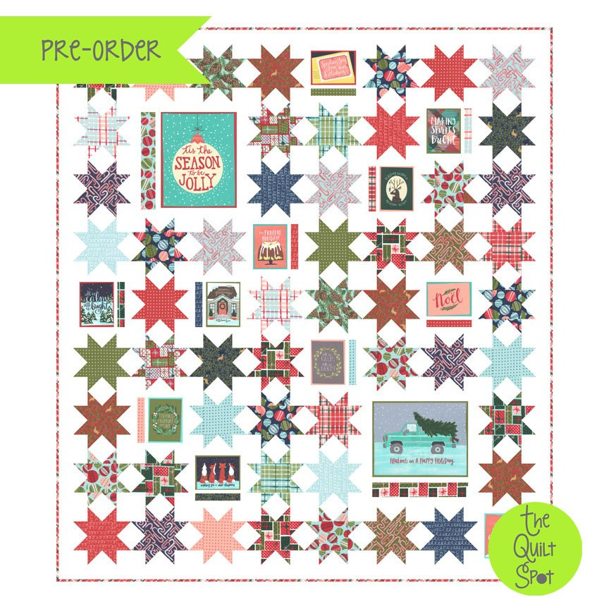 To Be Jolly Season's Greetings Quilt Top Kit