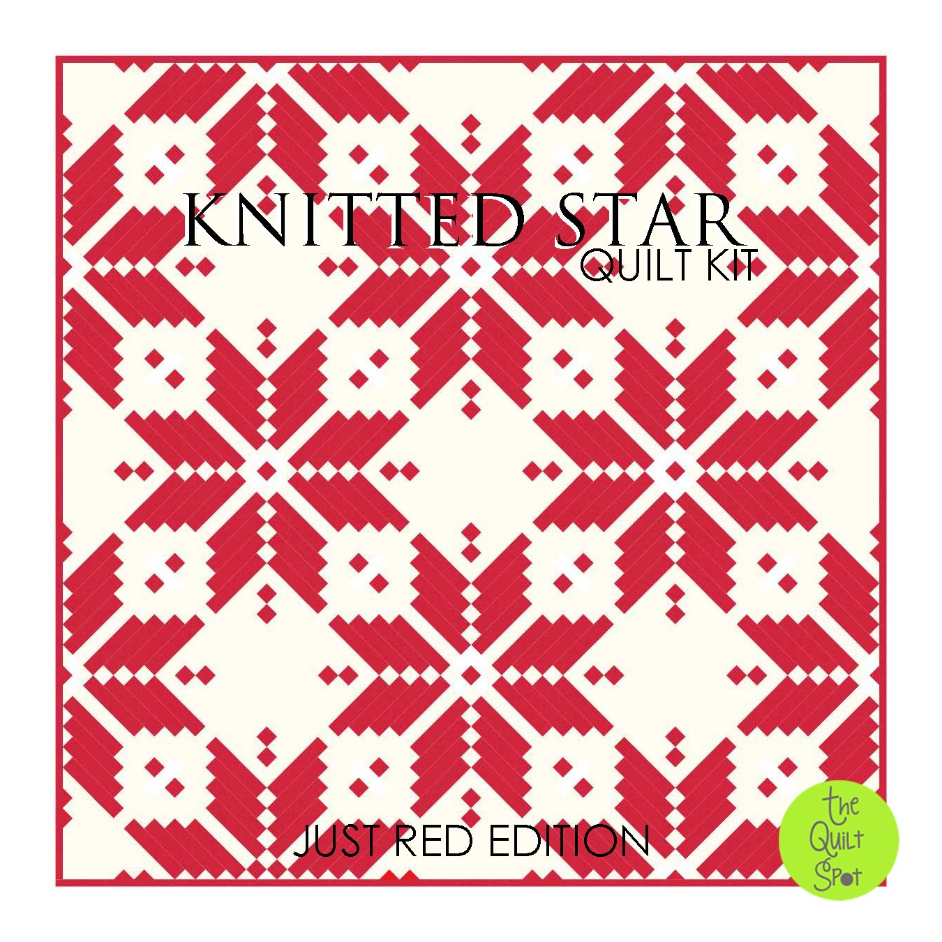 Knitted Star Quilt Kit - Just Red Edition