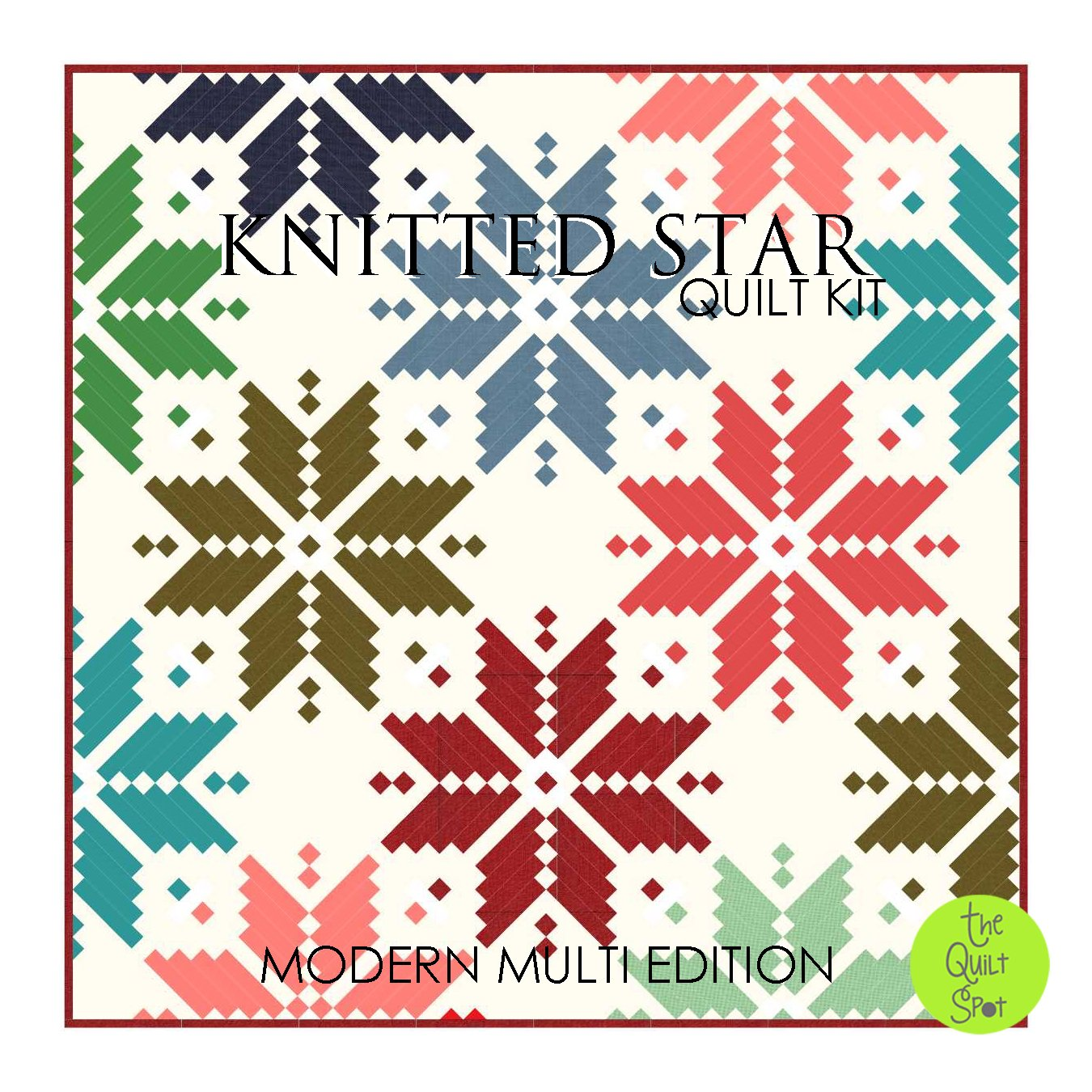 Knitted Star Quilt Kit - Modern Multi Edition