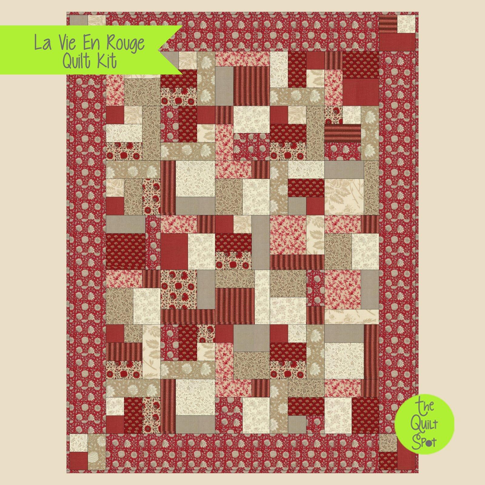 La Vie en Rouge Quilt Kit