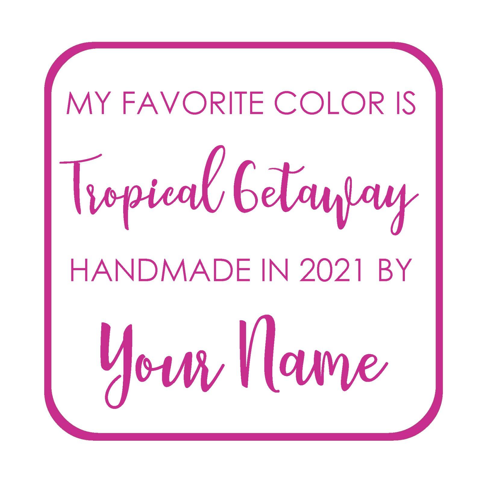 Tropical Getaway Custom Label - My Favorite Color is Moda BOM